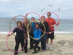 hoop on the beach